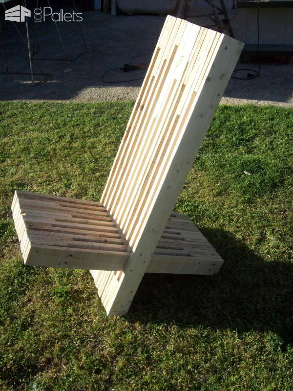 Stacked Pallet Wood Modern Chair Chaise Palabre En