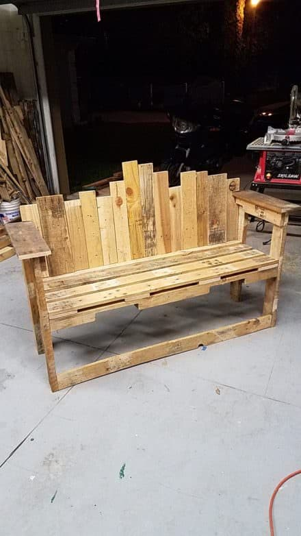 Store Front Decorative-backed Pallet Bench Seat