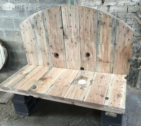 Upcycled Cable Spool Garden Bench