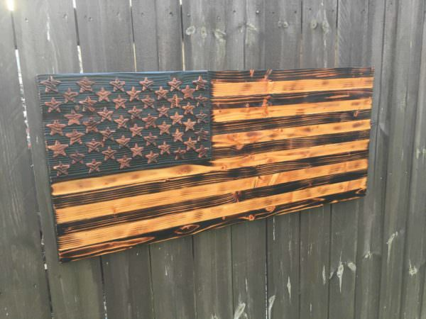 video tutorial woodburned pallet american flag 1001 pallets. Black Bedroom Furniture Sets. Home Design Ideas