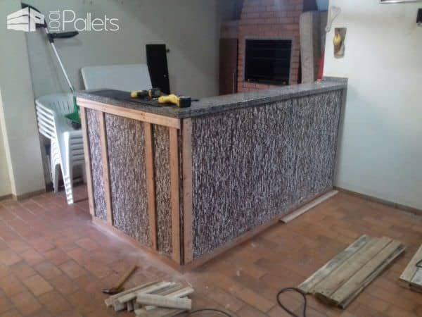 Beautiful Pallet Outdoor Kitchen Counter 1001 Pallets