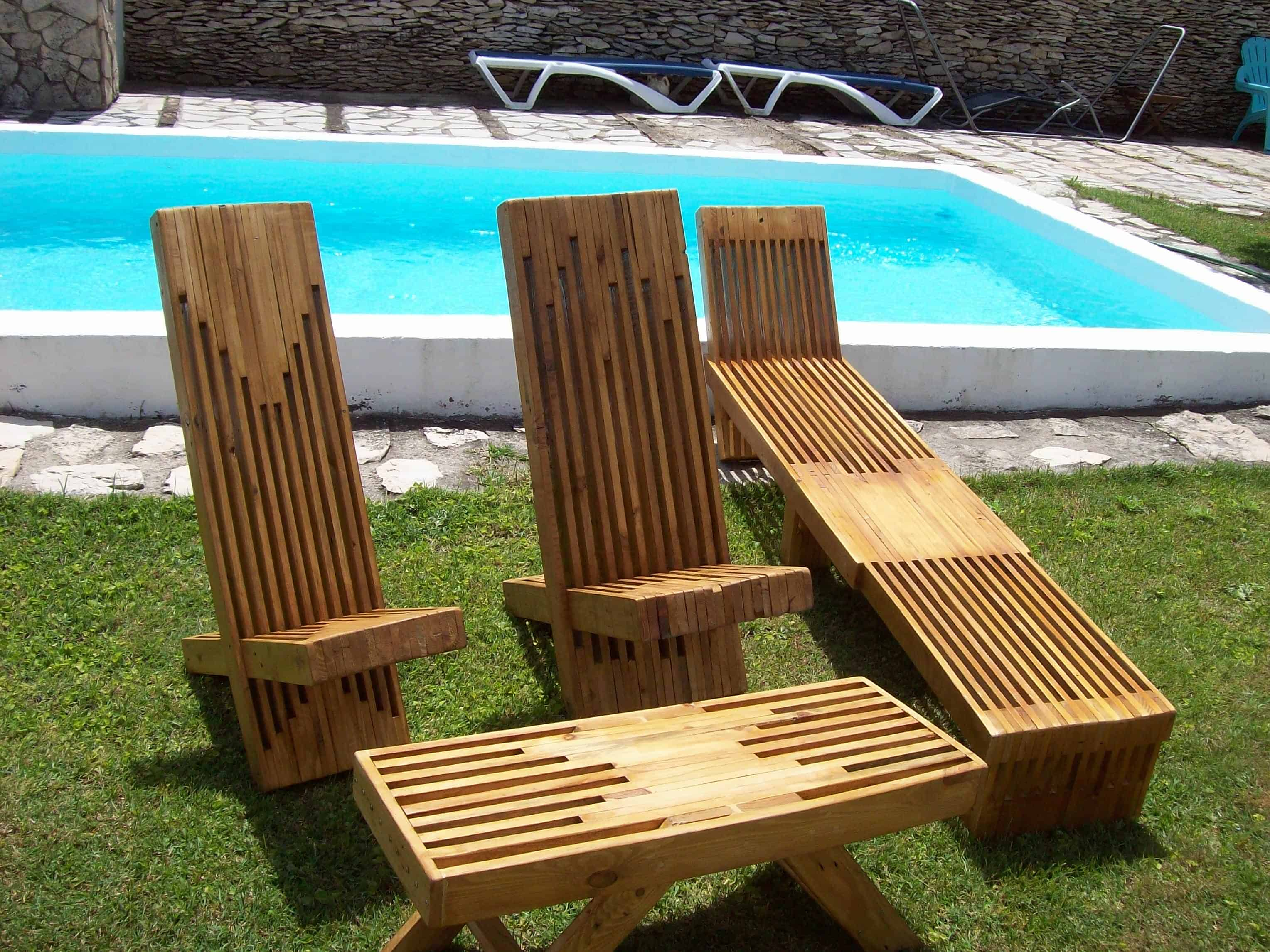 Working with pallets 5 essential woodworking power tools that won - Beautiful Stacked Pallet Wood Lounge Set
