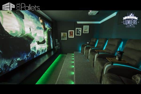 Build Your Own Pallet Home Theater! Other Pallet Projects Pallet Floors & Decks Pallet Home Décor Ideas Pallet Sofas & Couches Pallet TV Stands & Racks