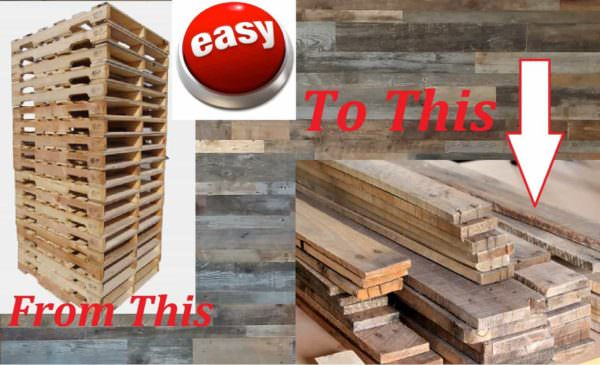 Dismantling Pallets The Fastest, Easiest Way!
