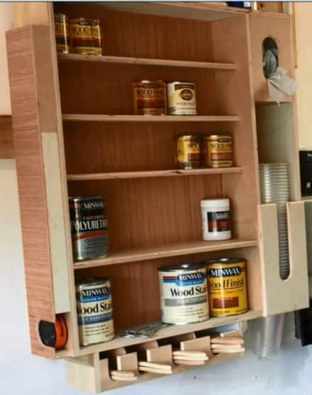 Recycled Wood Finishing Station