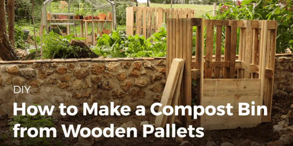 Build Your Next Compost Bin Out Of Recycled Pallet Wood