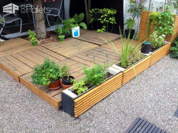 24 ideas to make your outdoor living areas spectacular using pallets lounges garden setspallet terraces - Garden Ideas Using Pallets