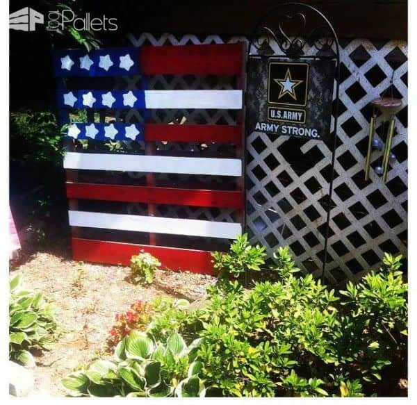 16 Memorial Day Pallet Project Ideas 2017 DIY Pallet BarsLounges & Garden SetsOther Pallet ProjectsPallet Benches, Pallet Chairs & StoolsPallet Boxes & ChestsPallet Coffee TablesPallet Home AccessoriesPallet Wall Decor & Pallet Painting