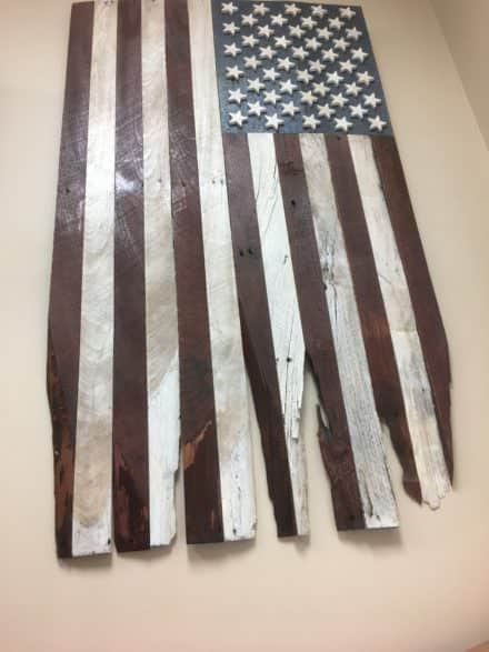Pallet Wood Battle-torn Flag