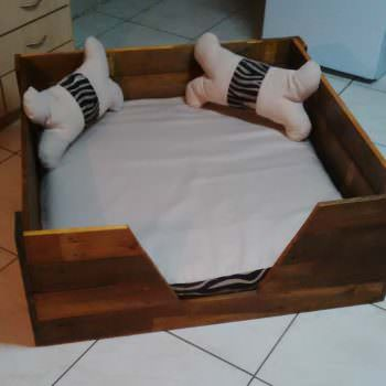Pooch's Perfect Pallet Dog Bed With Homemade Cushions & Pillows!