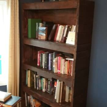 Sturdy, Stylish Pallet Wood Bookcase