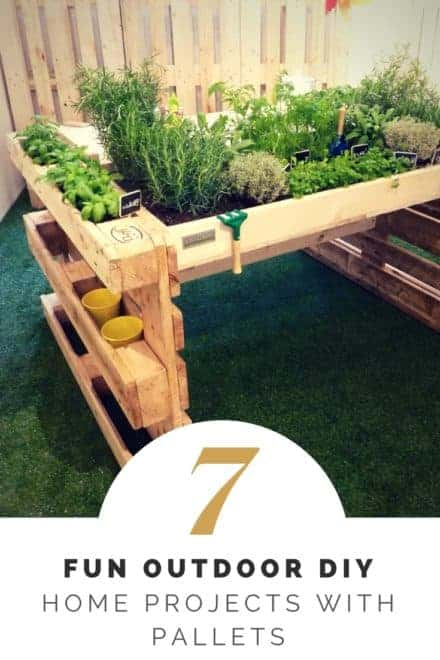 Fun Outdoor DIY Home Projects with Pallets