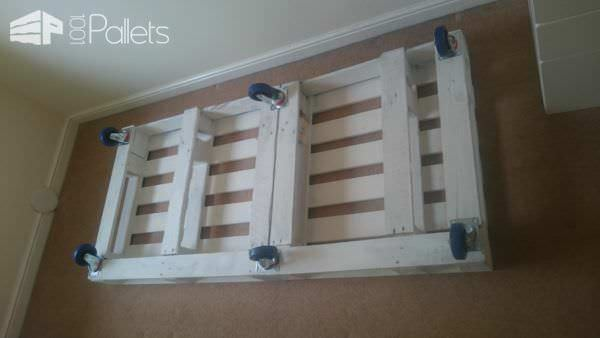Transitional Childrens Pallet Bed On Wheels