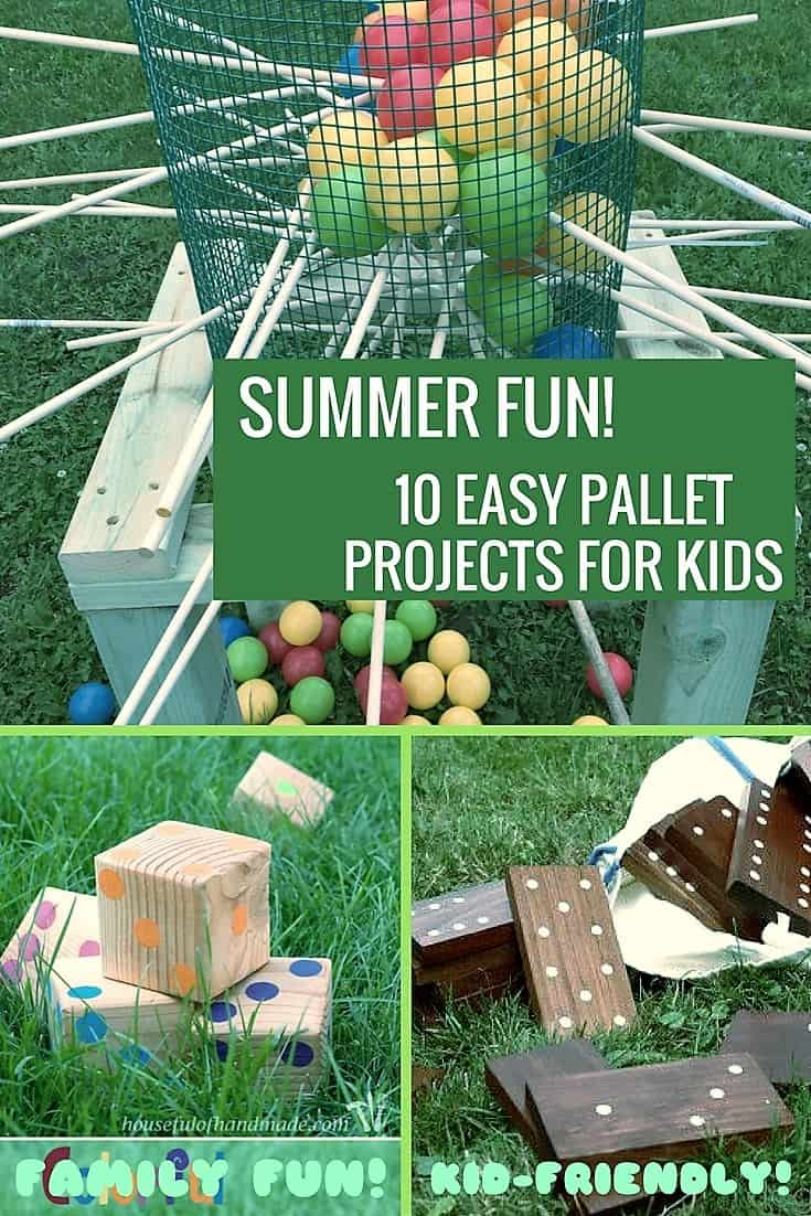 10 Kid Friendly Pallet Projects For Summer Fun O 1001 Pallets