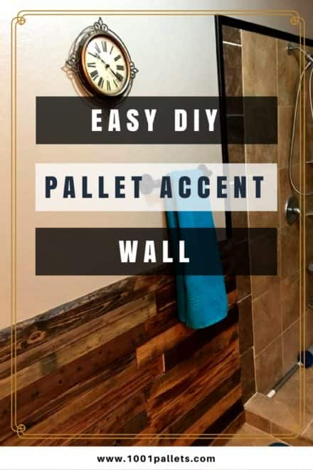 Bathroom Gets Pallet Accent Wall Makeover!
