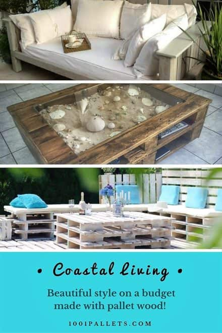 21 Coastal Living Style Using Pallets