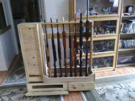 Decorative Crate Lumber Gun Racks