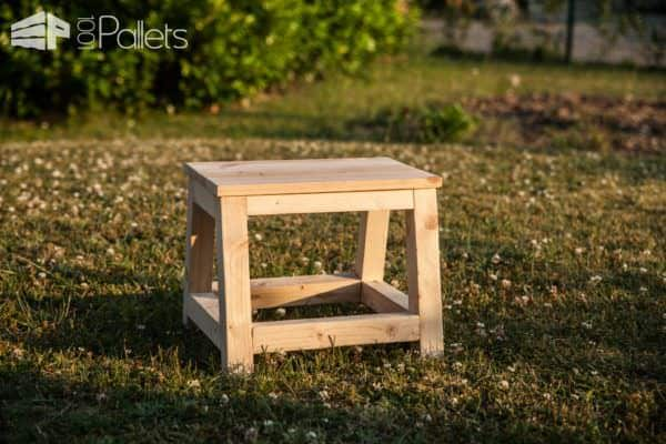 Child's Pallet Step Stool DIY Pallet Video Tutorials Fun Pallet Crafts for Kids Pallet Benches, Pallet Chairs & Stools