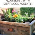 Raised Pallet Flower Planter Features Driftwood!