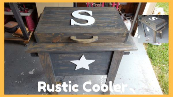 Unique Rustic Cooler Using Pallets DIY Pallet Video Tutorials Pallet Boxes & Chests