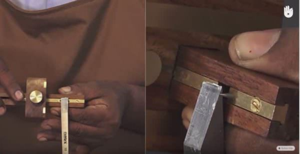 Mortise Marking Gauges include choosing the right chisel for the tenon you're sizing.