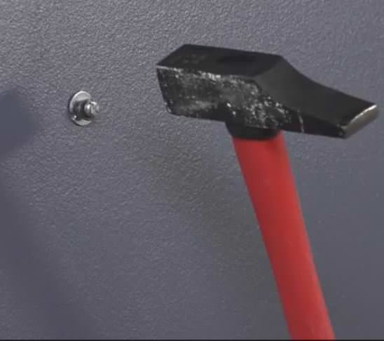 Diy Video Tutorial: Using Wall Anchors! Tap the collapsed wall anchor into the hole you drilled.