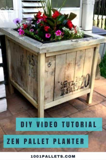 Diy Video Tutorial: Zen Pallet Planter Box