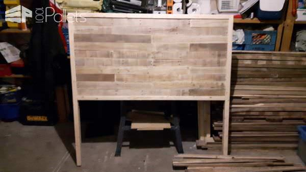 Dual-stained Pallet Headboard