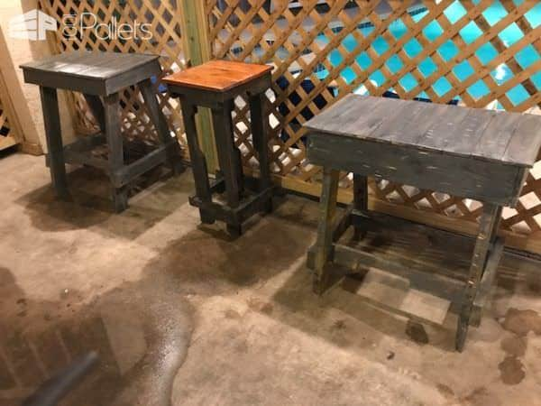 Pallet Bar Stools/Benches: Time For A Pool Party! Pallet Benches, Pallet Chairs & Stools