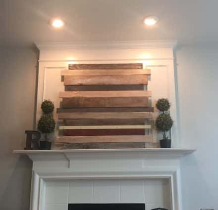 Pallet Wood Mantle Piece for My Living Room