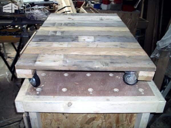 Rolling Pallet Box Catches Scrap Lumber / Caisse Pour Chute De Bois Pallet Boxes & Chests
