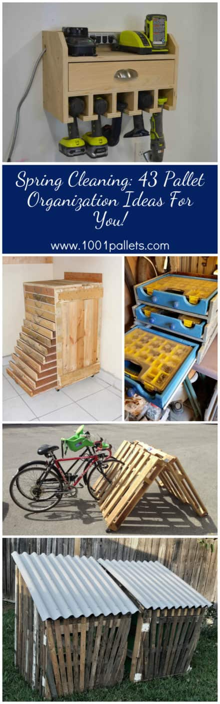 Spring Cleaning: 43 Pallet Organization Ideas For You!