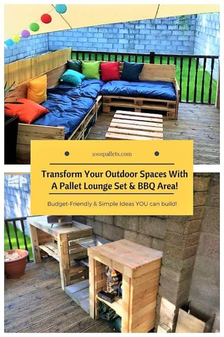 Terrific Pallet Lounge Set Updates Plain Yard