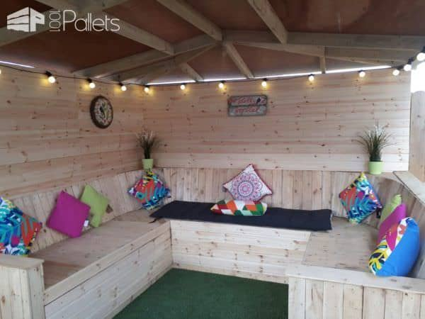 Too-gorgeous Pallet Garden Gazebo Pallet Sheds, Cabins, Huts & Playhouses Pallet Terraces & Pallet Patios