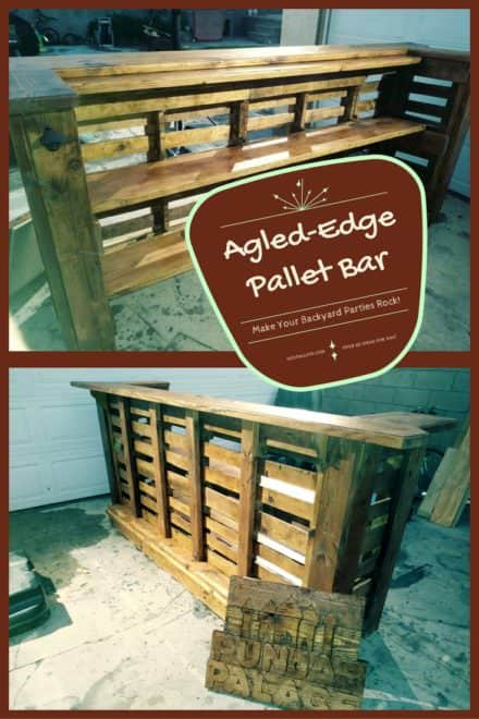Angled-edge Pallet Bar Rocks Your Outdoor Parties!