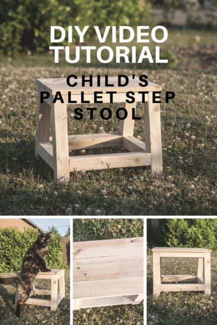 Child's Pallet Step Stool