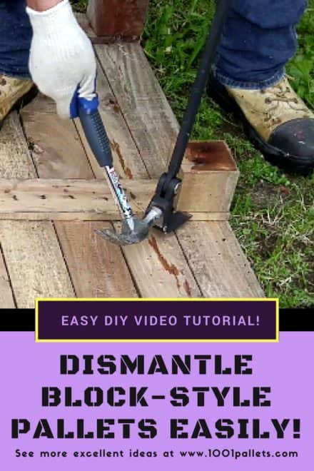 Diy Video Tutorial: Dismantling Block-style Pallets Easily!