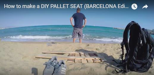 This lightweight Pallet Beach Seat is easy to make and easy to carry!