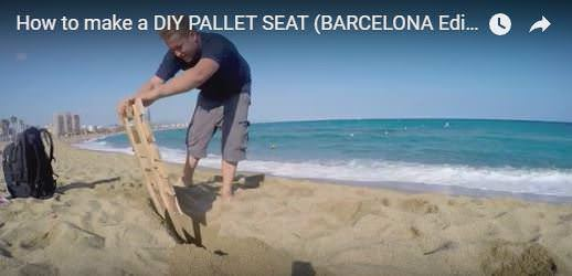 This is a great project to make with the kids, and then make them carry their own Pallet Beach Seat with them!