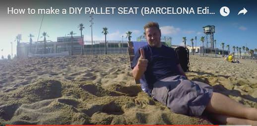 Diy Video Tutorial: Easy Pallet Beach Seat! DIY Pallet Video TutorialsPallet Benches, Pallet Chairs & Stools