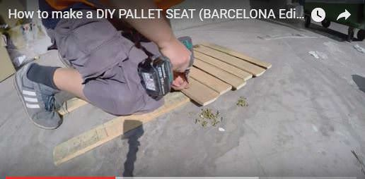 Make this Pallet Beach Seat with only part of a pallet and under an hour!