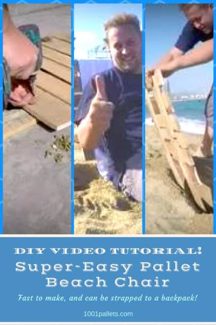Diy Video Tutorial: Easy Pallet Beach Seat!