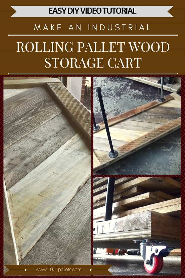 Working with pallets 5 essential woodworking power tools that won - Diy Video Tutorial Industrial Pallet Wood Storage Cart