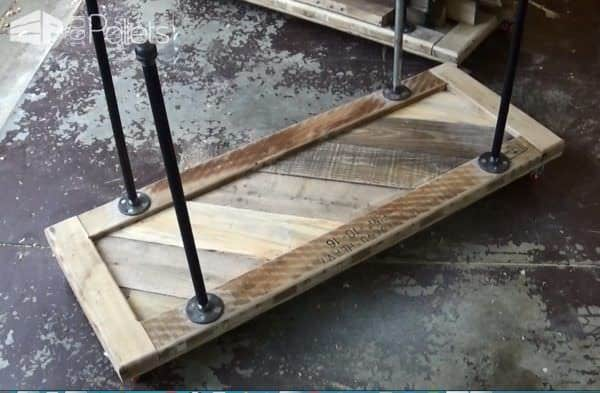 Industrial Pallet Wood Storage Cart