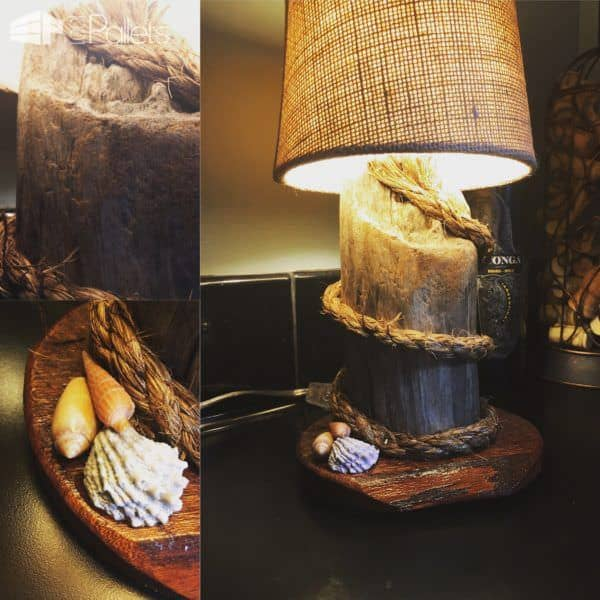 Diy Video Tutorial: Nautical-themed Pallet Mini Lamp Pallet Lamps, Pallet Lights & Pallet Lighting