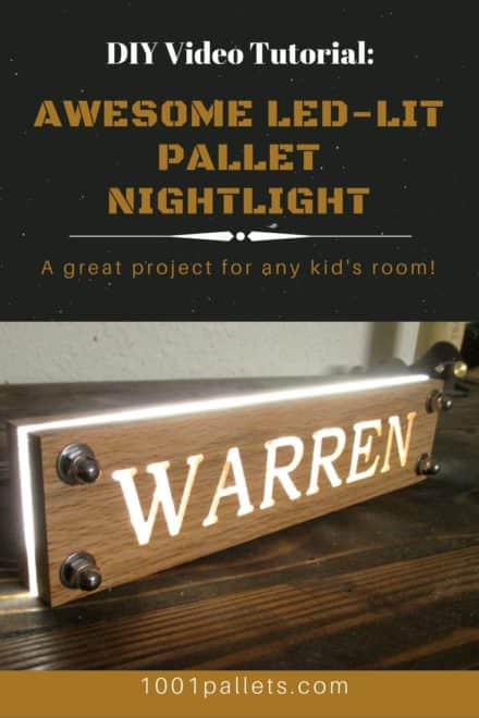 Diy Video Tutorial: Pallet LED Nightlight