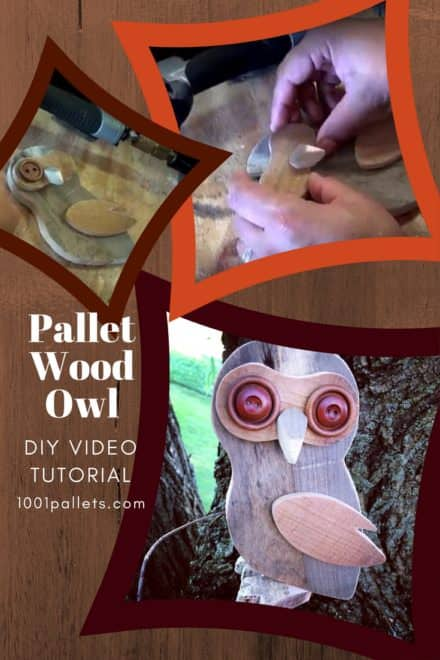 Diy Video Tutorial: Pallet Wood Owl