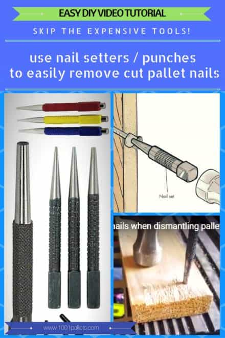 Diy Video Tutorial: Remove Cut Nails Using Simple Center Punch/Nail Setter