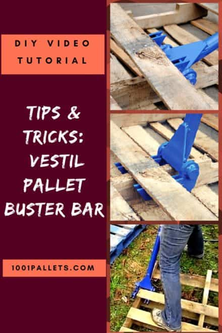 Diy Video Tutorial: Vestil Pallet Buster Bar Dismantles Pallets Quickly