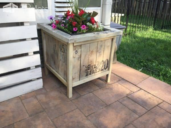 Zen Pallet Planter Box DIY Pallet Video TutorialsPallet Planters & Compost Bins